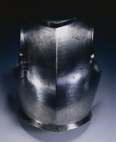 Gothic Breastplate, c. 1490-1500 possibly by made by Domenico dei Barini (Italian) steel (with Lance Rest Mount), Overall - h:45.00 w:35.20 cm (h:17 11/16 w:13 13/16 inches) Wt: 3.24 kg