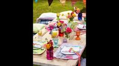 Fresh Table Setting Ideas for Spring by pbstudiopro.com Mexican Table Setting, Picnic Themed Parties, Party Themes, Table Settings, Entertaining, Table Decorations, Amelia, Image, Events