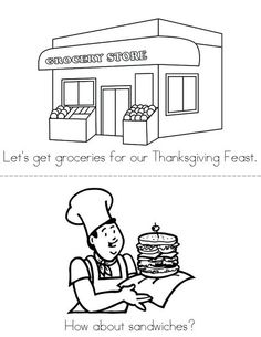 Thanksgiving Feast Book from TwistyNoodle.com