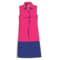 McCalls 6885 - color blocked shirt dress