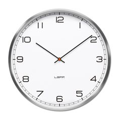 Buy One Wall Clock - Stainless Steel, White Arabic from LEFF Amsterdam. In addition to the index range, wiebe also designed an arabic dial. The clock is. White Wall Clocks, Amsterdam, Tabletop Clocks, Wall Clock Online, Wall Clock Design, Desk Clock, Clock Wall, Facades, Home