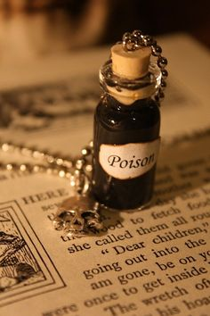 Poison Vial Necklace Halloween Jewelry by spacepearls on Etsy