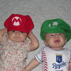 Super Mario Brothers Inspired-INFANT or by KidInspiredDesigns Mario Hat ac2de3532adf