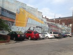 The Short North Arts District: Train Murals at 620 North High Street.  100 foot long train on north wall and depiction of original Union Station.  A hotel is planned for this site so catch this train before it's too late!