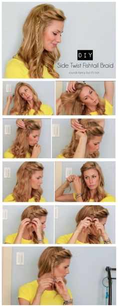 surprisebeauty: Side Twist Fishtail Braid Tutorial