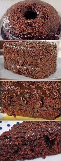 Bolo de Chocolate da Fran – Massa de Chocolate e Cobertura de Chocolate! Sweet Recipes, Cake Recipes, Dessert Recipes, Chocolate Desserts, Love Food, Cupcake Cakes, Food And Drink, Yummy Food, Baking