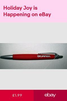 Genuine Scania Logo Truck Basic Red Pen Black Ink Gift New