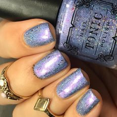 """91 Likes, 7 Comments - Xochitl (@gurlynailz) on Instagram: """"Filed down my longer nails on Cindy. Swatched my @tonicpolish Angelfish. Such a lovely color.…"""""""
