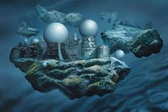 Glenn Brown (b. 1966)Böcklin's Tomb (copied from 'Floating Cities' 1981 by Chris Foss) Post-War and Contemporary Art Eveni...