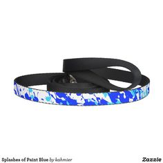 Splashes of Paint Blue Pet Leash  #zazzlemade