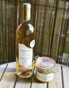 un foie gras de canard et son compagnon : u vin doux de Gaillac enjoy !