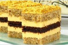 Ореховое пирожное с какао и лимонным кремом. Очень оригинально, вкусно и ароматно!