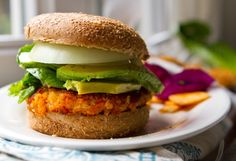 My easy Sweet Potato Burgers with avocado.