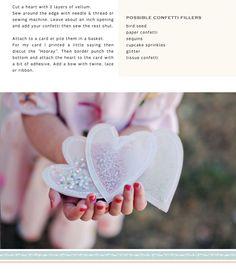 Confetti Hearts DIY / Ruche Blog