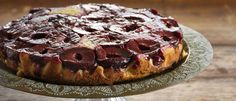 Plum and Cinnamon Upside Down Cake recipe from Food in a Minute