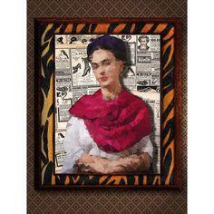 """Descarga immediata: """"Frida Kahlo (low poly)""""  #poster #digital #original #regalo #impresión #cuadro #decoración #zakaiimxicocuadrospostersartesdecorativos #artemexico #mexico"""