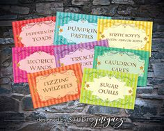 Harry Potter Honeydukes Printable Tent Cards by StudioYniguez