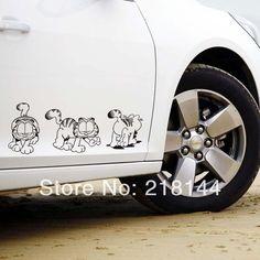 Free Shipping Garfield car stickers fox refit side door Garfield Family Stickers Decals Car Tuzki Decorative Stickers $6.72