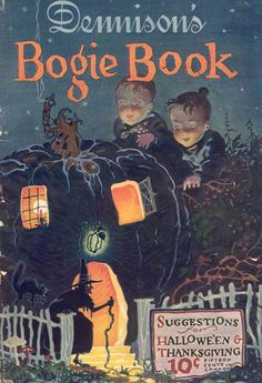 Dennison's Bogie Book. These are now ridiculously expensive, but they are reprinted and are lots of fun. Dennison's sold party supplies and they put the Bogie Book out for every Halloween.  (Reminder: This Halloween board has split. There is now a separate board for Halloween photos)