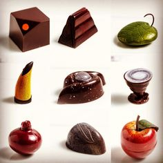 Wonderful moulded pralines created today by our finalists of Group 2. Sublime…