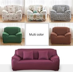 Lovely Solid Single Seat / Double Seat / Sectional Sofa Cover Funda Sofa  Sofa Slip Cover