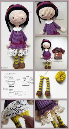 How to Make Amigurumi Doll #amigurumi #amigurumidoll #doll #crochet #diy #tutorial