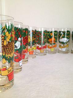 Vintage 12 Days of Christmas Glass Set by TheLittleThingsVin, $48.00