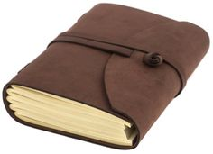 """INDIARY Luxury Wild Leather Bound Journal 100% Cotton Handcrafted Paper 7x5"""" - WILD A5 - Brown"""