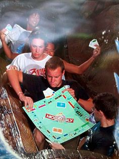 Okay, this is just too incredible. I can't imagine how many times they had to go around to complete their game while on Splash Mountain.