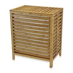 "Household Essentials® Natural Bamboo Hamper - 21.06""x 14.6""d x 23.62""h - $69.99"