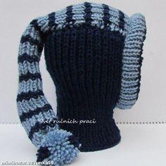 Teploučká zimní kukla pro holky a kluky jednoduché pletení Crochet Hats, Knitting, Fashion, Curve Dresses, Knitting Hats, Moda, Tricot, La Mode, Breien
