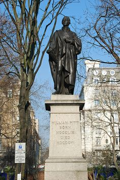 William Pitt the Younger (1759-1806)This bronze statue of William Pitt the Younger by Sir Francis Chantrey stands in Hanover Square in London.