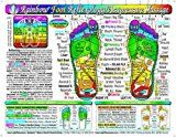 Rainbow FOOT Reflexology/ Acupressure Massage Chart