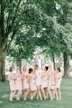 Bridal Salon, Bridal Hair, Blue Wedding, Summer Wedding, Evergreen Flowers, Farm Photography, Floral Arch, Bridesmaid Robes, Bridal Robes
