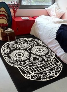 7 idees de tapis pour halloween tapis