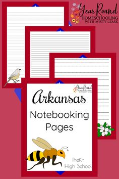 Encourage your kids to share what they've learned about Arkansas through an essay, poem or book report using these Arkansas Notebooking Pages. #Arkansas #USA #Notebooking #Geography #Homeschool #USGeography #Homeschooling #YearRoundHomeschooling #Printable