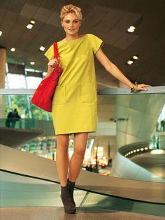 02/2011 Shirt dress with front pockets #118 | Burda Style