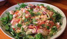 Thai Grapefruit and Prawn Salad : Food : The Home Channel Prawn Salad, Asian Recipes, Ethnic Recipes, Test Kitchen, Blood Orange, 4 Ingredients, Grapefruit, Potato Salad, Onion