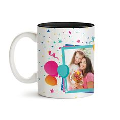 Navy Inside Mug 11oz Start Your Day With A Smile Be Creative