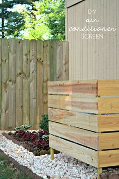 DIY air conditioner screen - how to hide air conditioning unit backyard design diy ideas