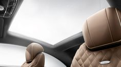 2015-S-CLASS-COUPE. This is supposed to be an active panoramic roof. MB claims that it will automatically go opaque depending on sunlight intensity.
