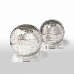 X-Globe on Base (Set of 2) by Barbara Cosgrove