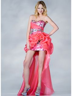 Coral Beaded Leopard Prom Dress. Style #: JC838. Get yours today at SungBoutiqueLA.com