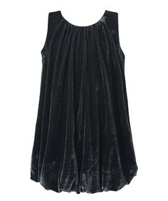 Look at this Richie House Gray Stretchy-Hem Dress - Toddler & Girls on #zulily today!