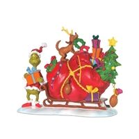 This The Grinch Sleigh Figurine is a great holiday decoration. It features The Grinch and his dog, Max with a sleigh full of toys! Animated Halloween Props, Halloween Masks, Halloween Decorations, Annabelle Doll, Trick Or Treat Studios, Barbie Collector, Small Heart, Grinch, Barbie Dolls