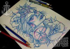 Desenho disponível, available design, tattoos, tattoo artist Montijo, Montijo Portugal, Portugal Tattoos, traditional europe, available traditional, beautiful, gorgeous, margem sul, vinicius oliveira tattoo