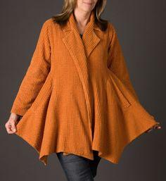 Orange Chenille Swing Coat