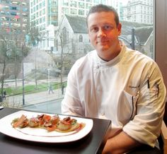Thomas Heinrich, executive chef at the Hyatt Regency Vancouver, pan-sears his scallops quickly to avoid overcooking.