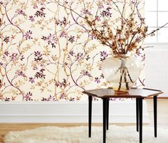 Zola Collection by Anna French - Featured Product: Tyndall wallpaper in Magenta on Cream Wallpaper Online, Room Wallpaper, Fabric Wallpaper, Wallpaper Ideas, Anna French Wallpaper, Application Pattern, Discount Wallpaper, French Colors, French Fabric