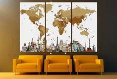 Contemporary wall decor by ZellartCo FREE SHIPPING #Art #Decor #WallDecor #Landmarks